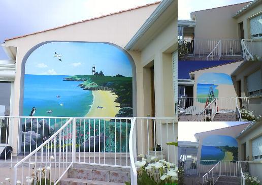 trompe l 39 oeil fresque en trompe oeil peinture en trompe l 39 oeil fresque murale peintre en. Black Bedroom Furniture Sets. Home Design Ideas